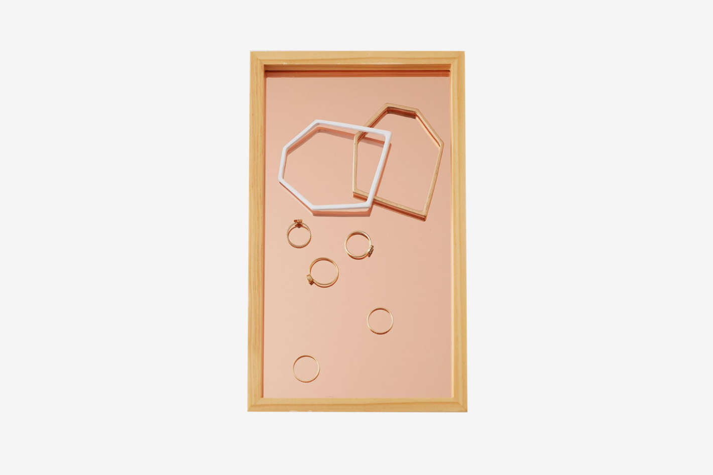 Blush Glass Catchall Tray