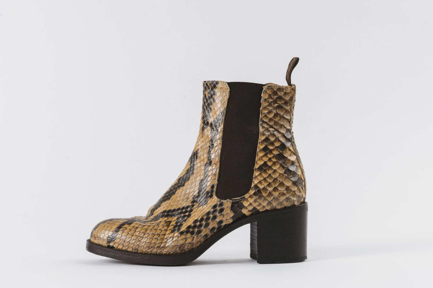 James Rowland Freelance Snake Skin Boot