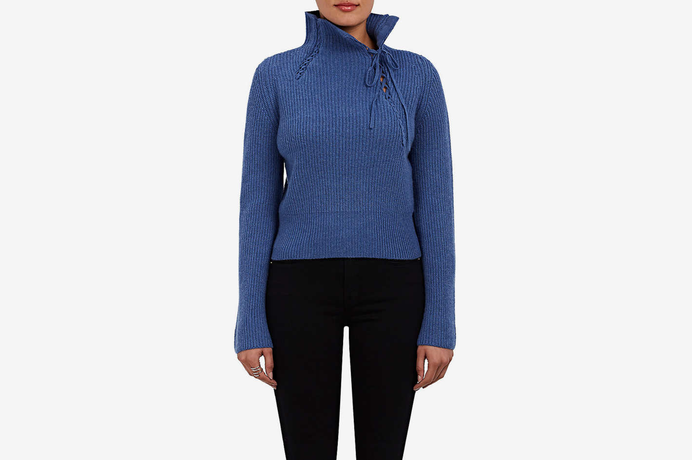 Derek Lam 10 Crosby Wool-Blend Mock Turtleneck Sweater