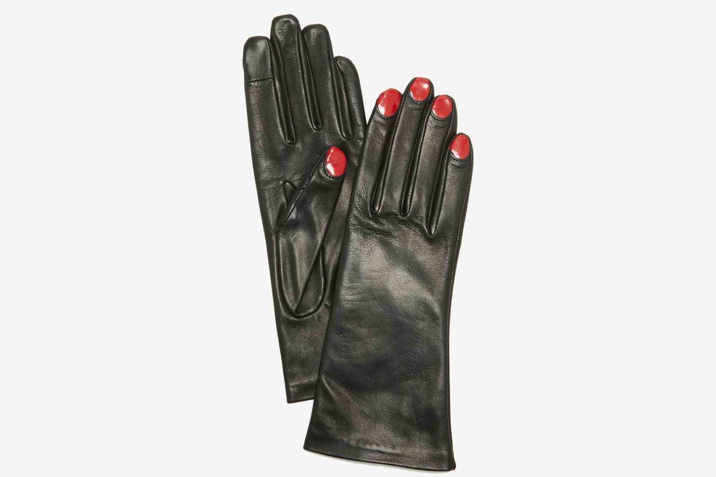 Agnelle Elsa Leather Gloves