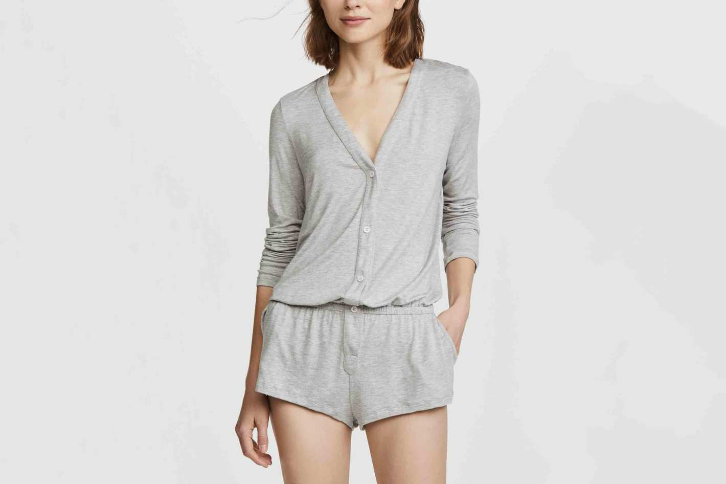 Eberjey Maya Long Sleeve Teddy