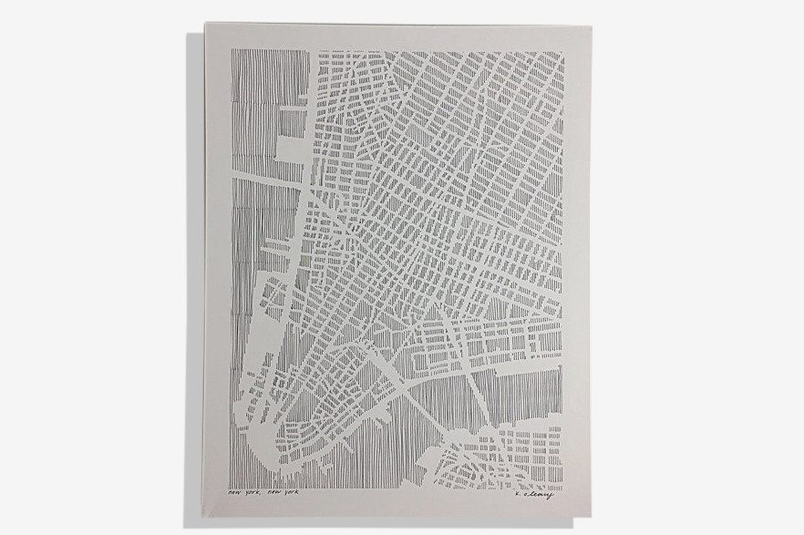 "Lower Manhattan Map, 11"" x 14"""