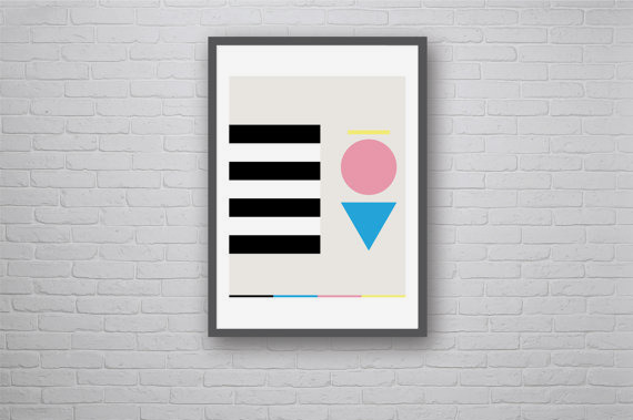 Random Forms Graphic Art Poster