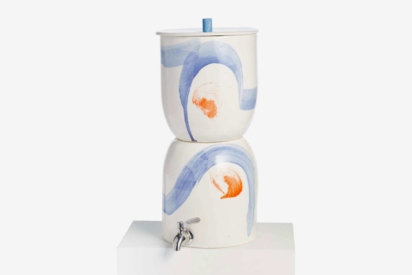 Painted Porcelain Water Filter