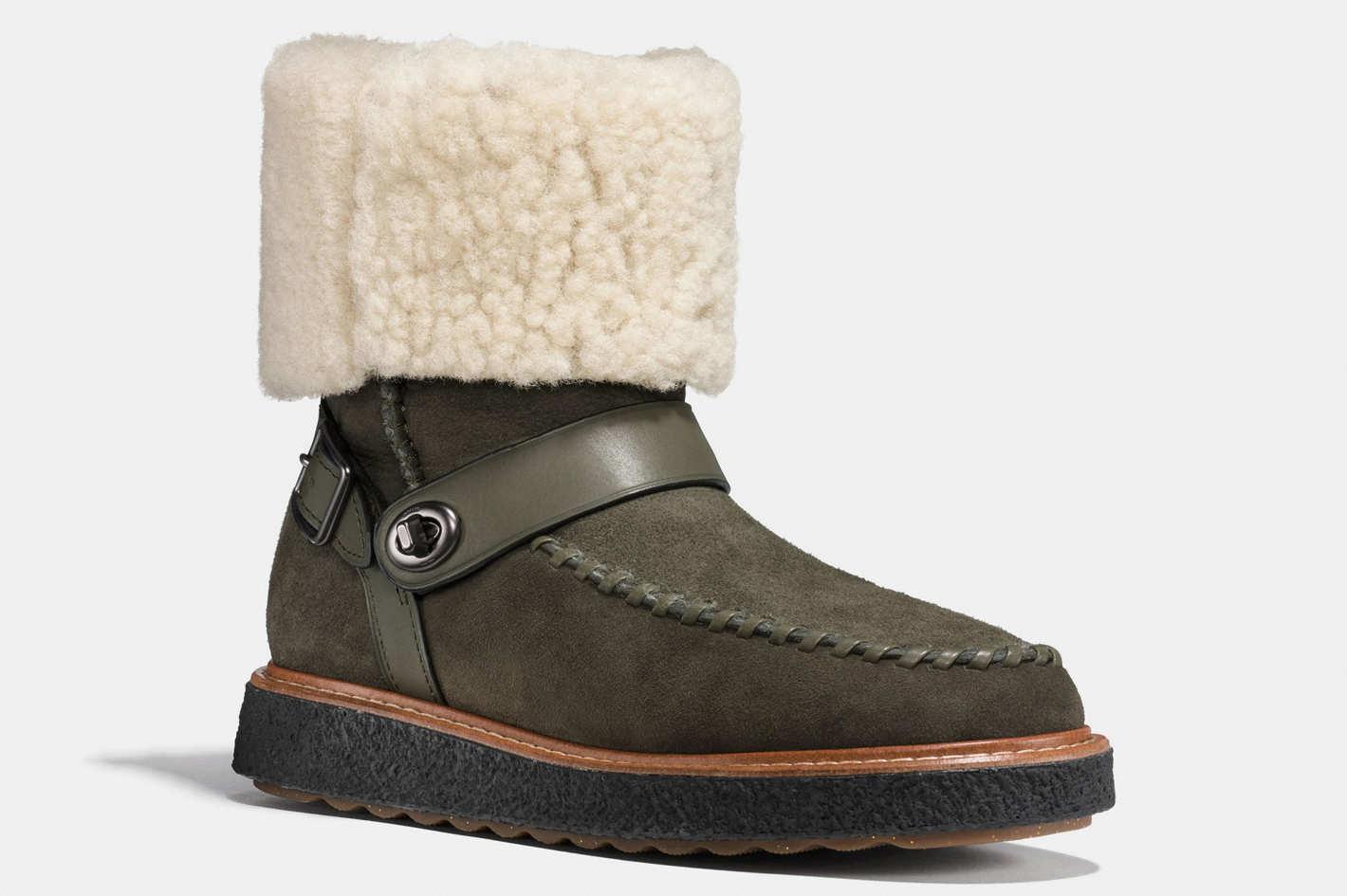 Coach Moto Shearling Boot