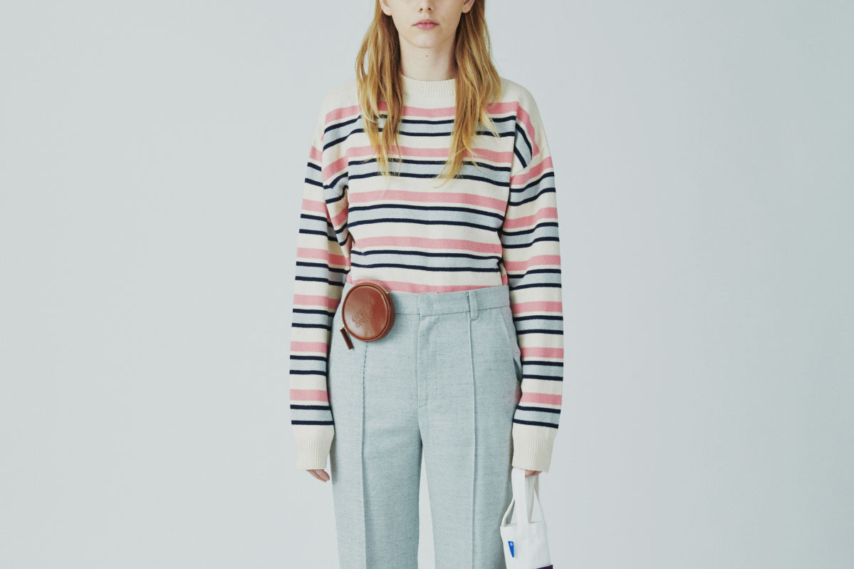 Ader Error Striped Long Sleeve Knitwear
