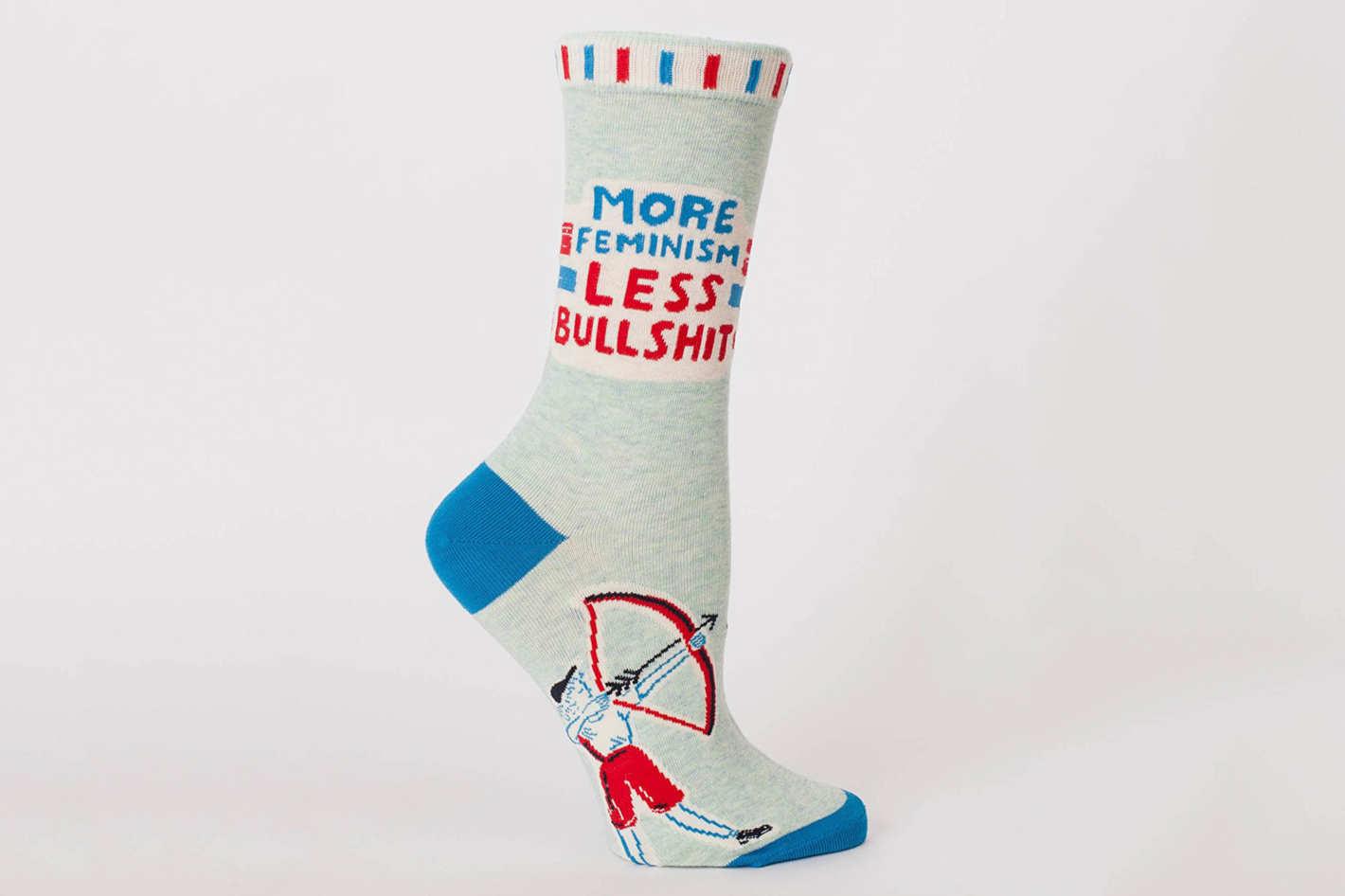 Blue Q More Feminism Less Bullsh*t Socks