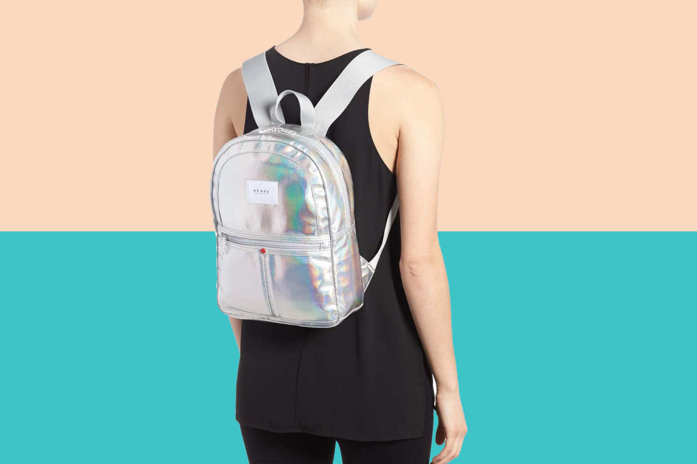 State Starrett City Mini Kane Iridescent Backpack