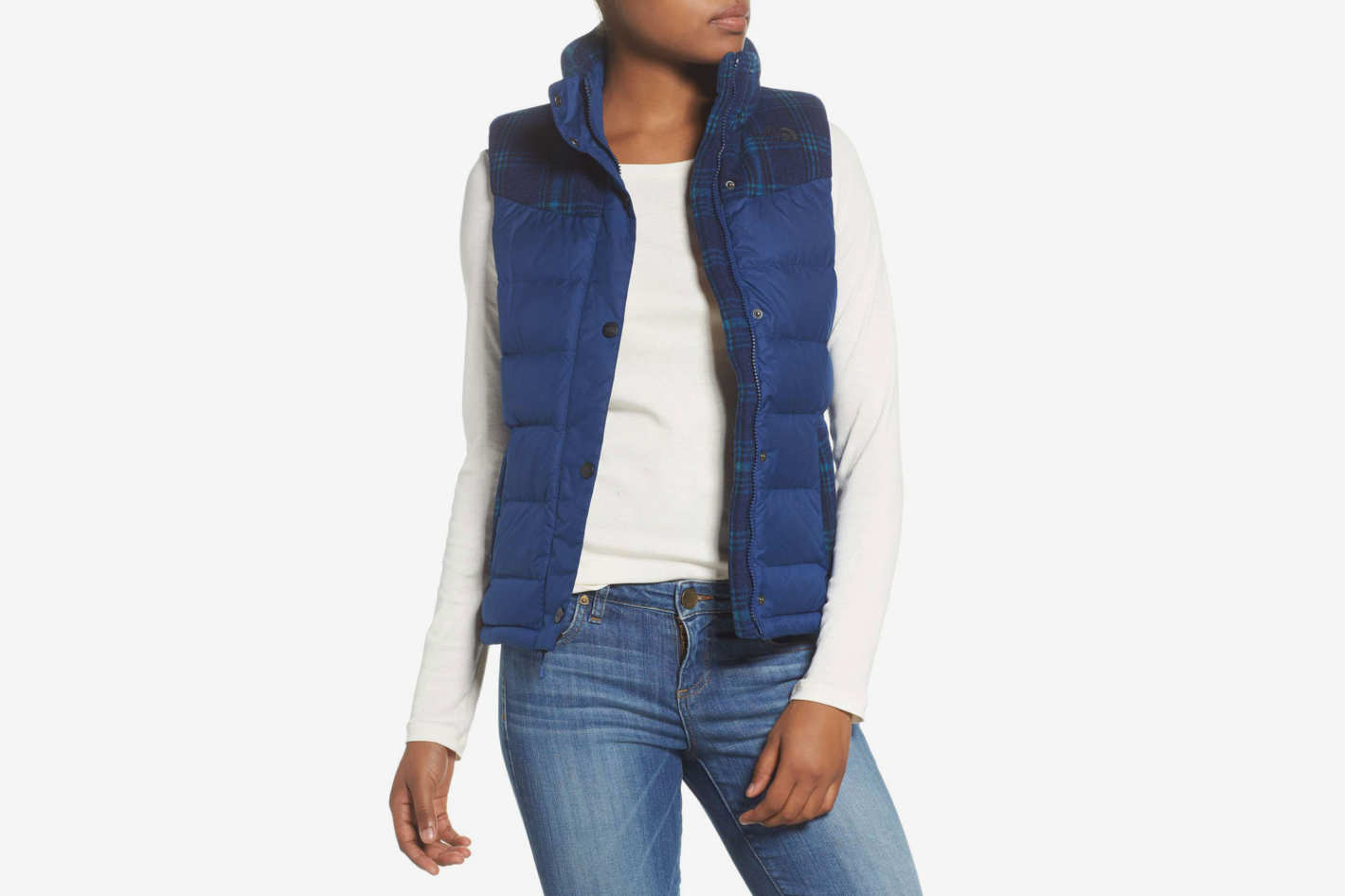 The North Face Nuptse Plaid Down Vest