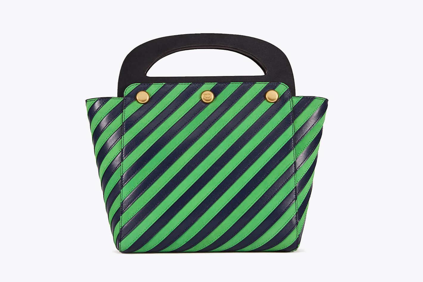 a8517bb6af5ab5  159 at Tory Burch. Buy. Striped Bermuda Bag