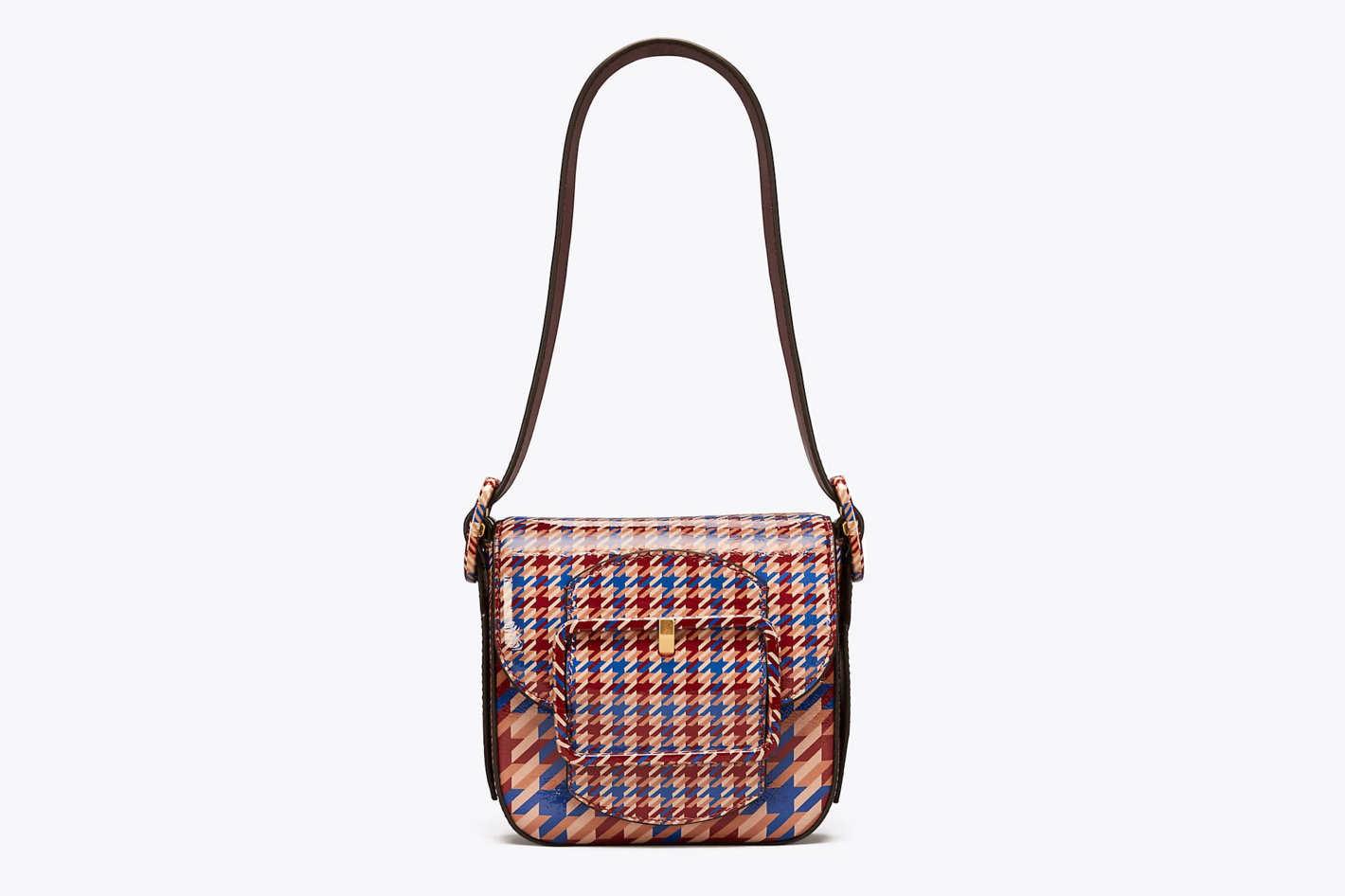 Sawyer Houndstooth Mini Shoulder Bag