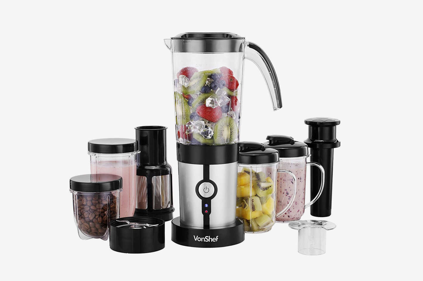 VonShef 1 Speed Blender Black