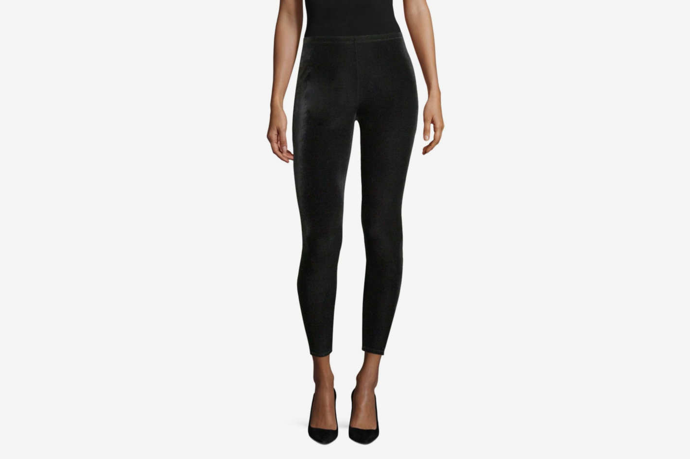 Eileen Fisher Stretchy Velvet Ankle Leggings