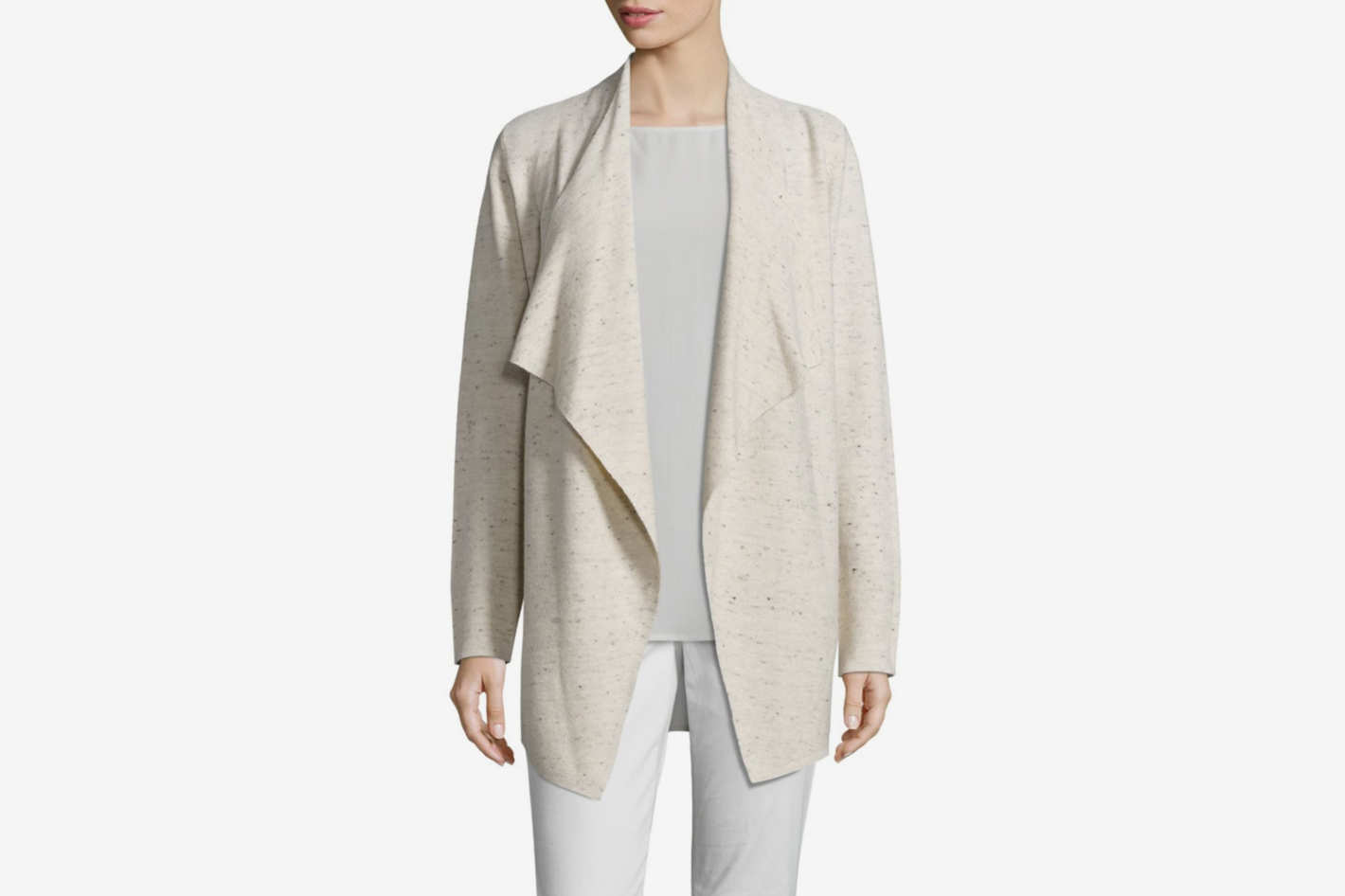 Eileen Fisher Peppered Cascading Cardigan