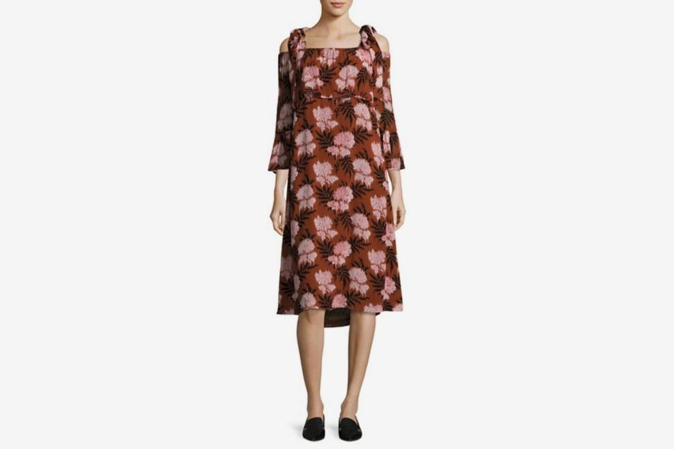 Ganni cold shoulder dress