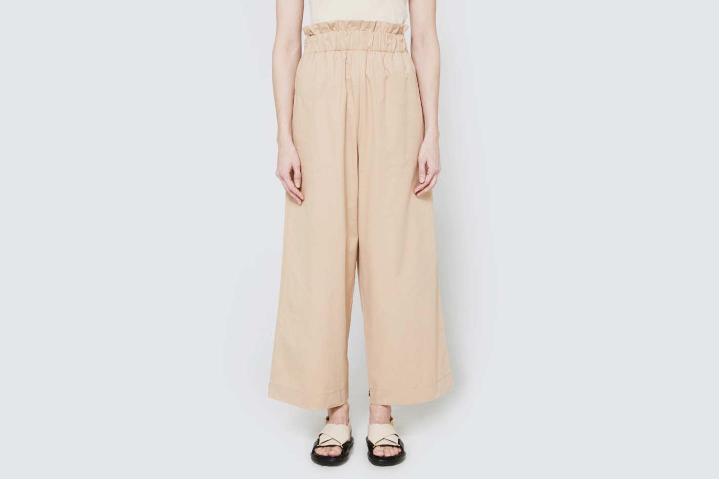 ganni cotton pants