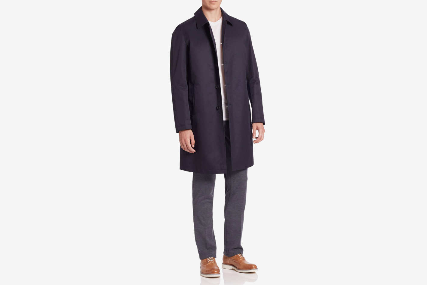 Saks Fifth Avenue Long-Sleeve Trench Coat