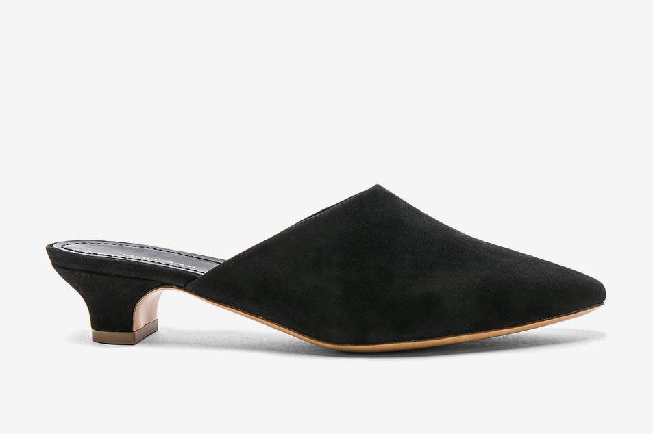 Mansur Gavriel Suede Elegant Slides