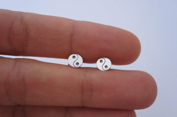 Plain Yin Yang Earrings