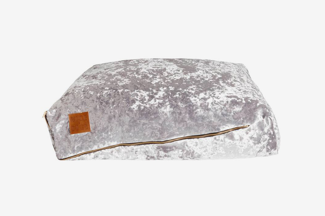 Nice Digs Mirage Velvet Slouch Dog Bed