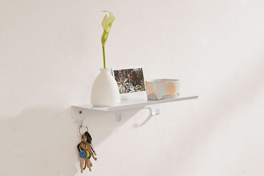 Multi-Hook Wall Shelf