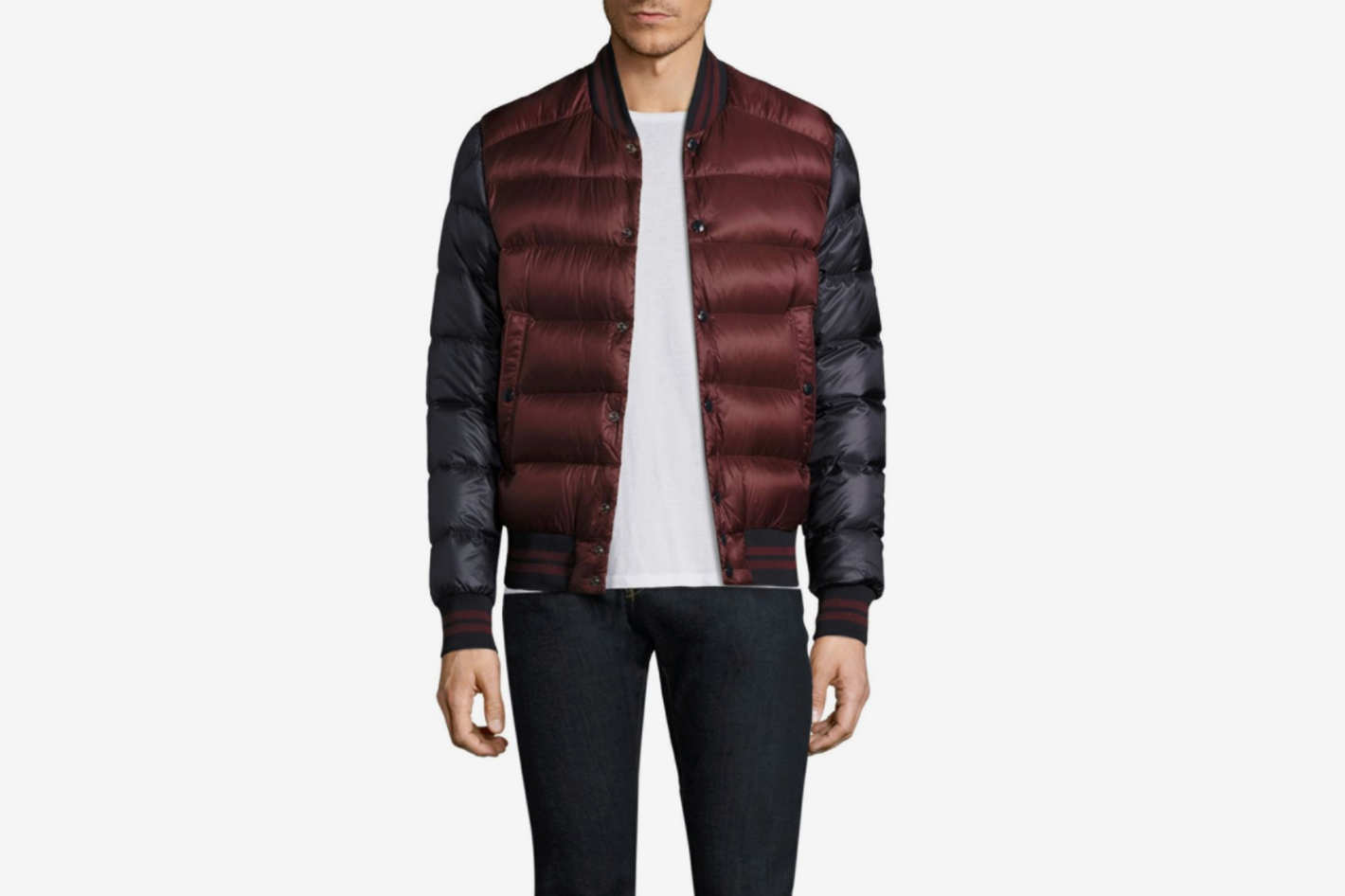 Moncler Bradford Two-Tone Finished Puffer Jacket