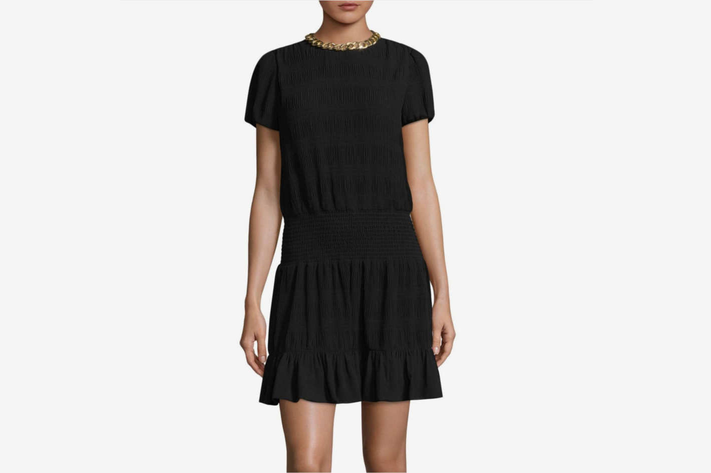 Michael by Michael Kors Chain Neck A-Line Dress