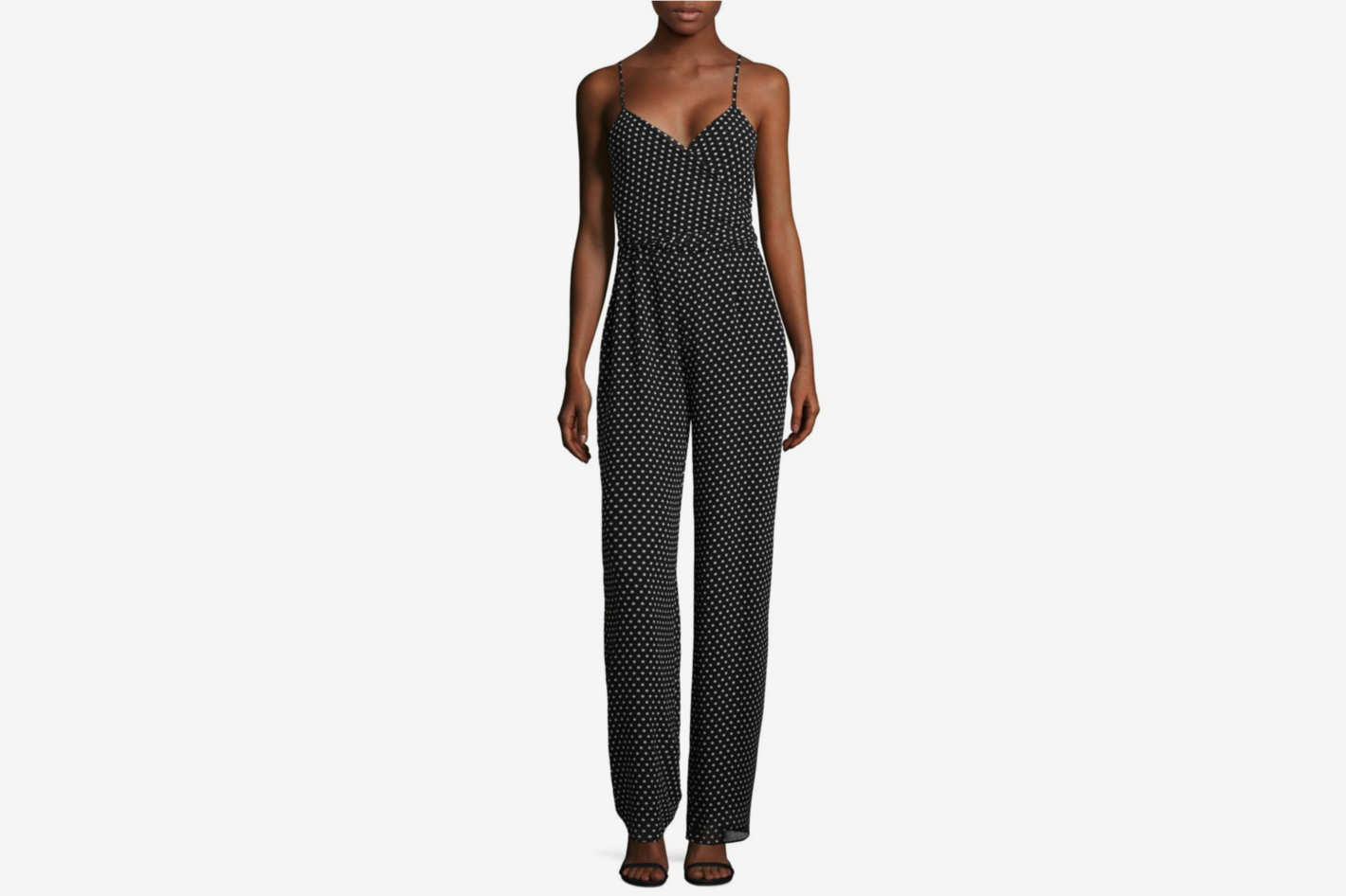 Michael by Michael Kors Dot-Print Jumpsuit
