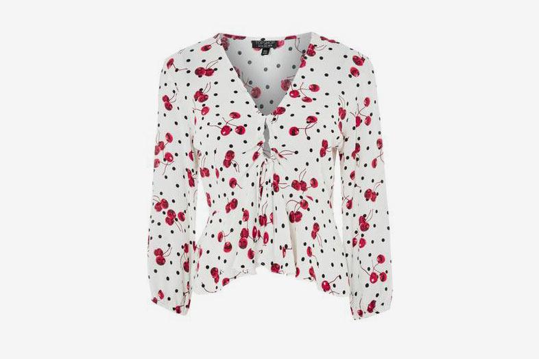 Cherry Spot Print Blouse