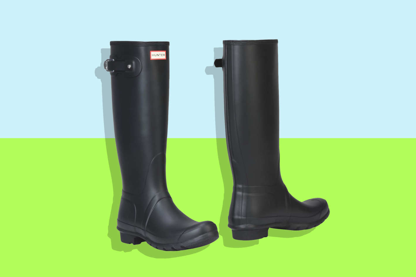 Black Hunter Rain Boots on Sale at Yoox