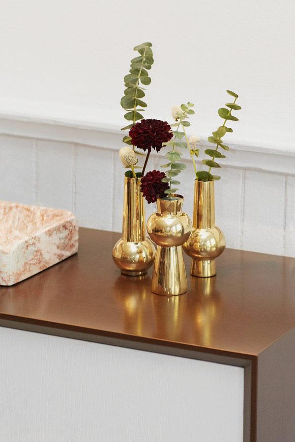 Set of Three Engraved Bead Vases