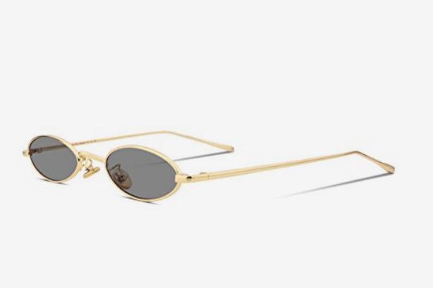 FEISEDY Vintage Slender Oval Sunglasses