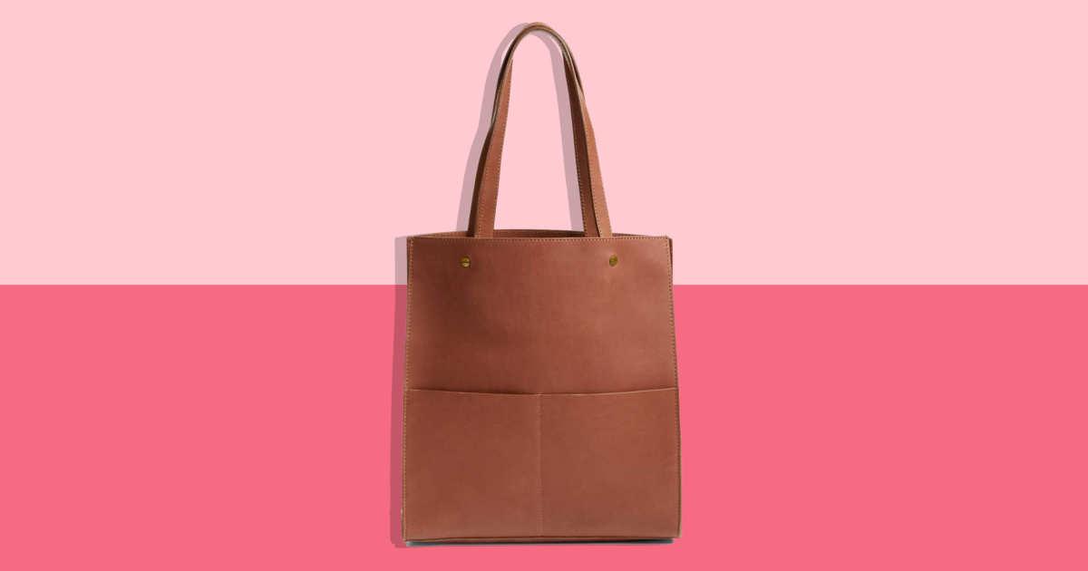 54bc135f3b84 Madewell Sale  Leather Work Bag 2018