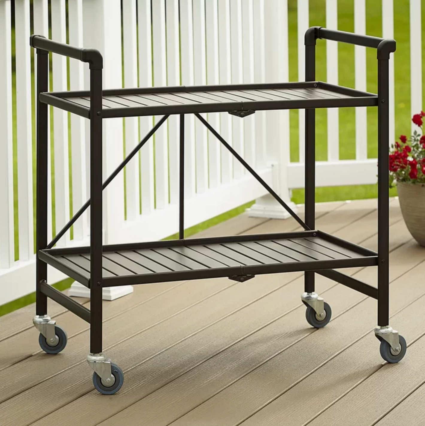 Beachcrest Home Linfield Bar Cart
