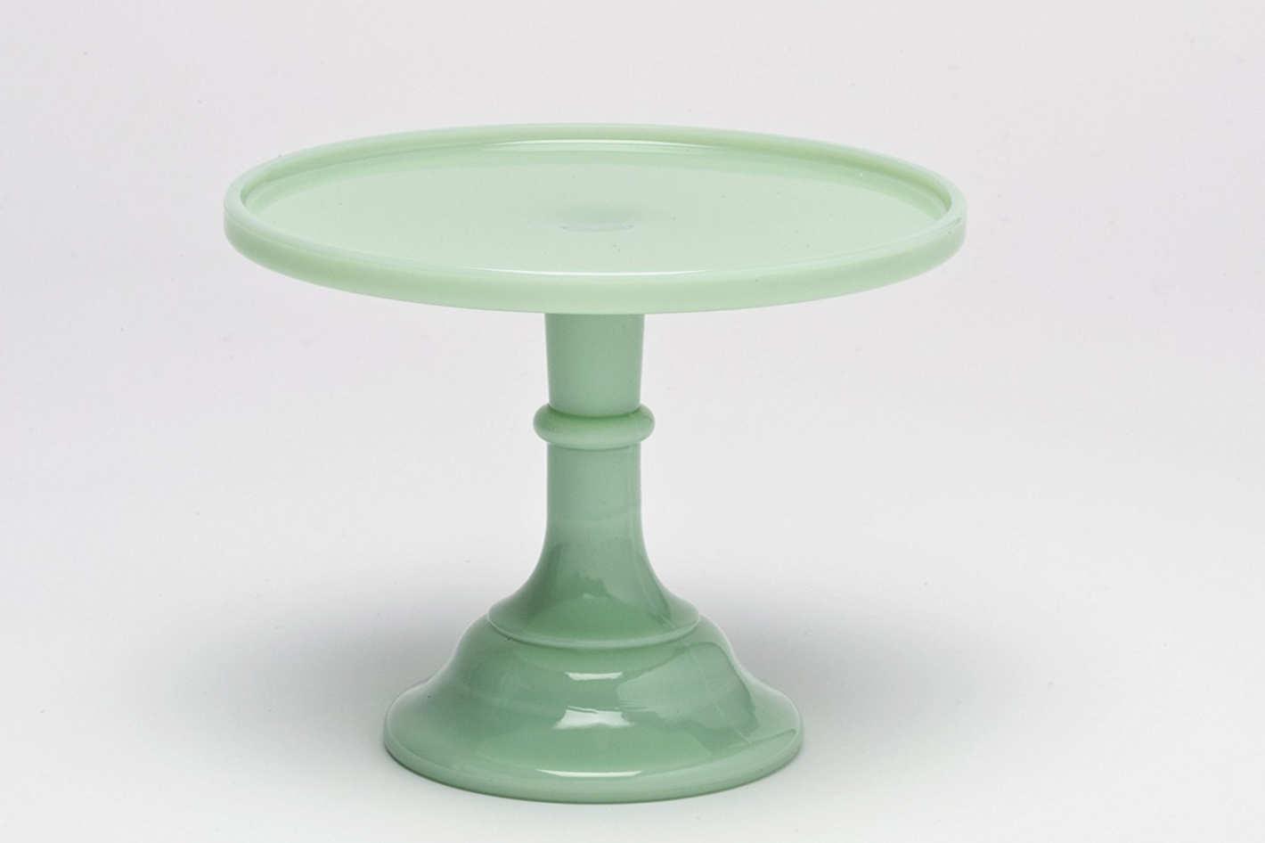 """Jadeite 9"""" Glass Cake Stand"""