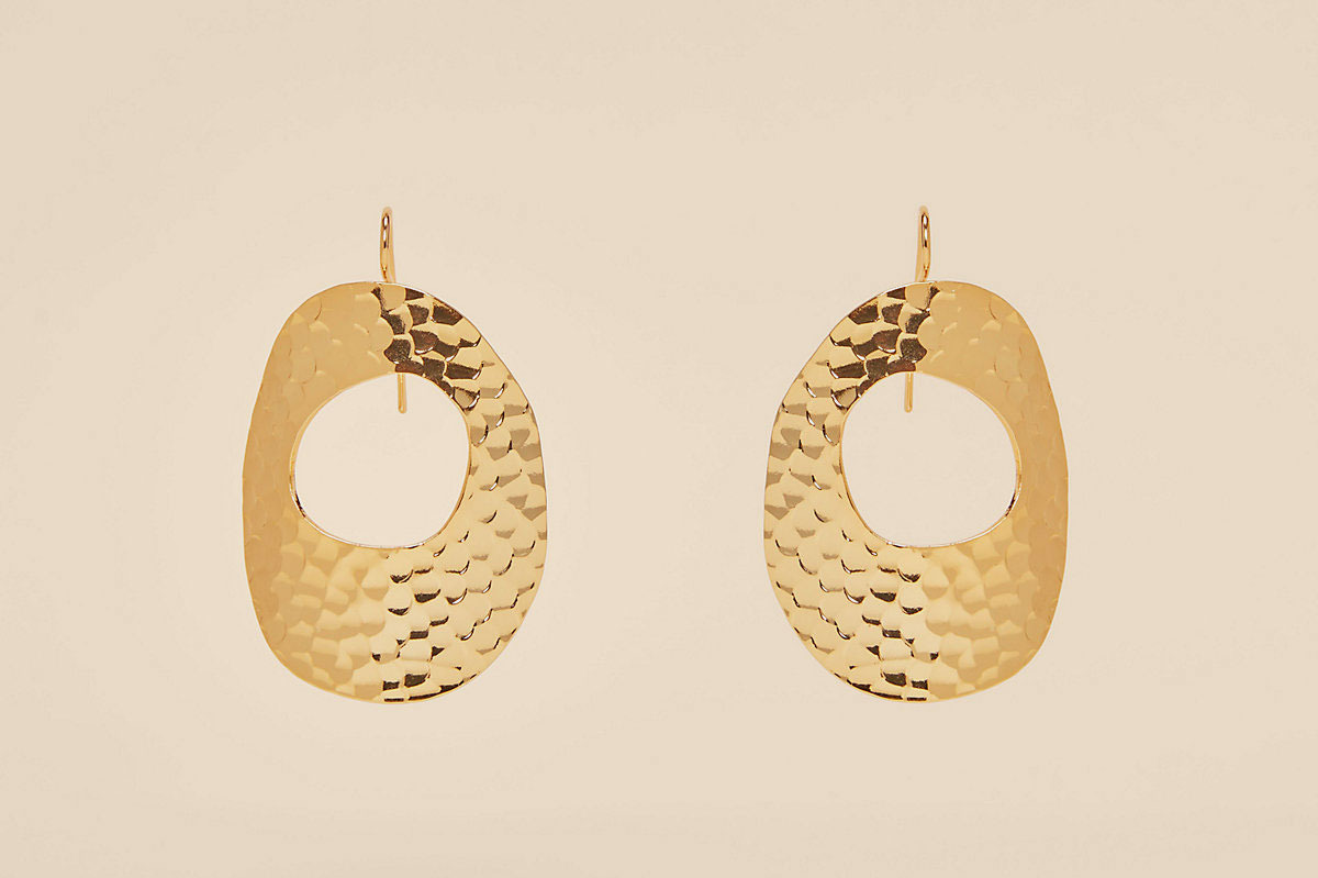 Diane von Furstenberg Hammered Hoop Earrings
