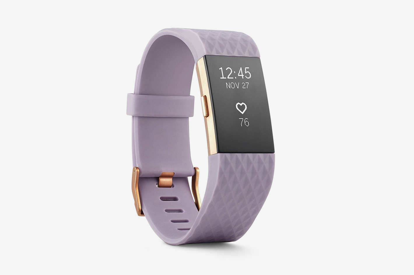 Fitbit Charge 2 Heart Rate + Fitness Wristband, Special Edition, Lavender Rose Gold