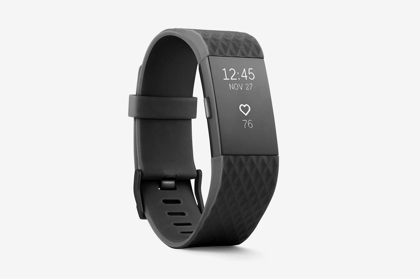 Fitbit Charge 2 Heart Rate + Fitness Wristband, Special Edition, Gunmetal