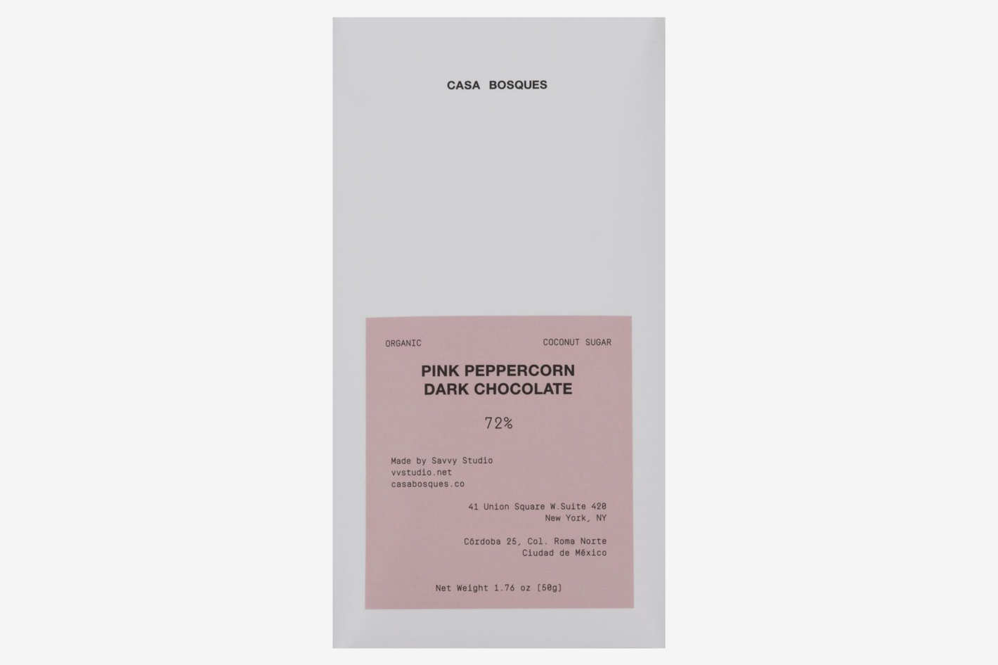 Casa Bosques Pink Peppercorn Chocolate