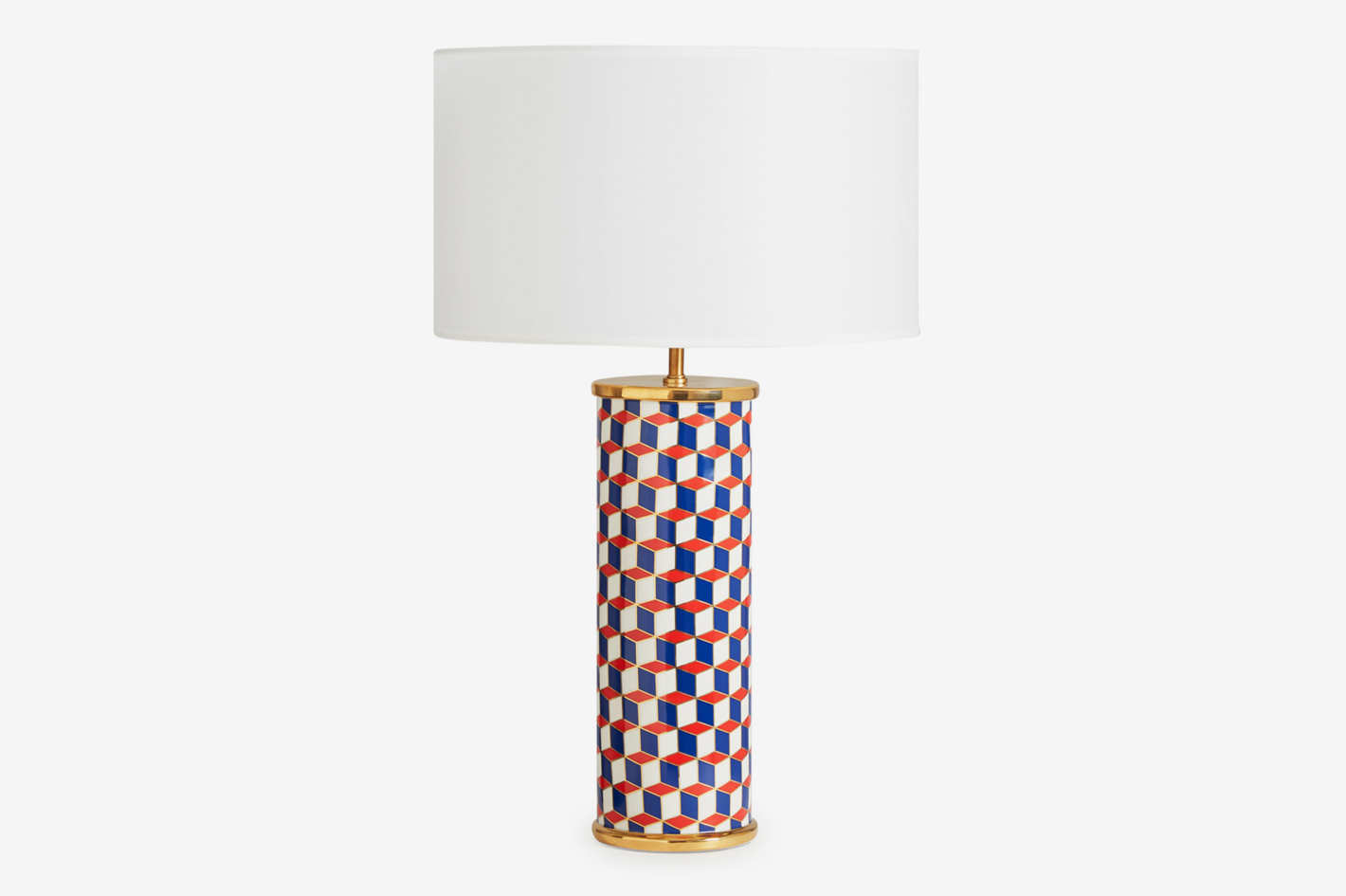Jonathan Adler Carnaby Lamp, Navy/Red