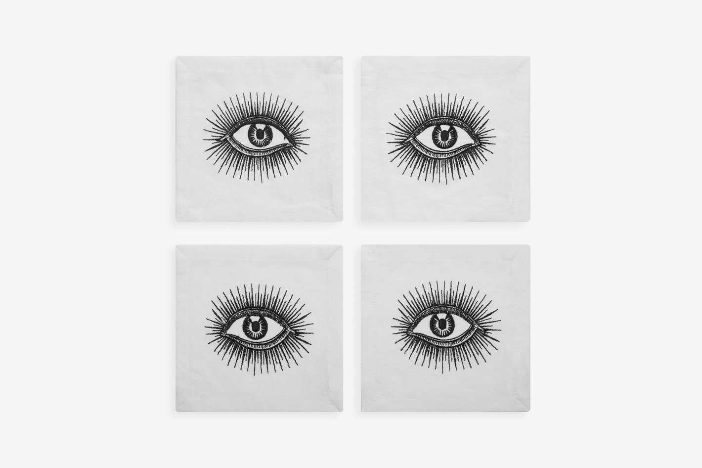 Jonathan Adler Eyes Cocktail Napkins, Set of 4