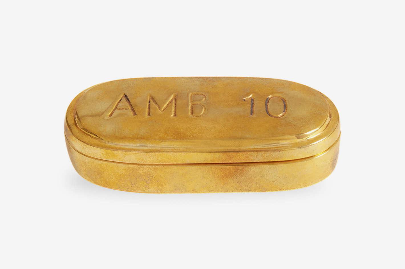 Jonathan Adler Brass Pill Box