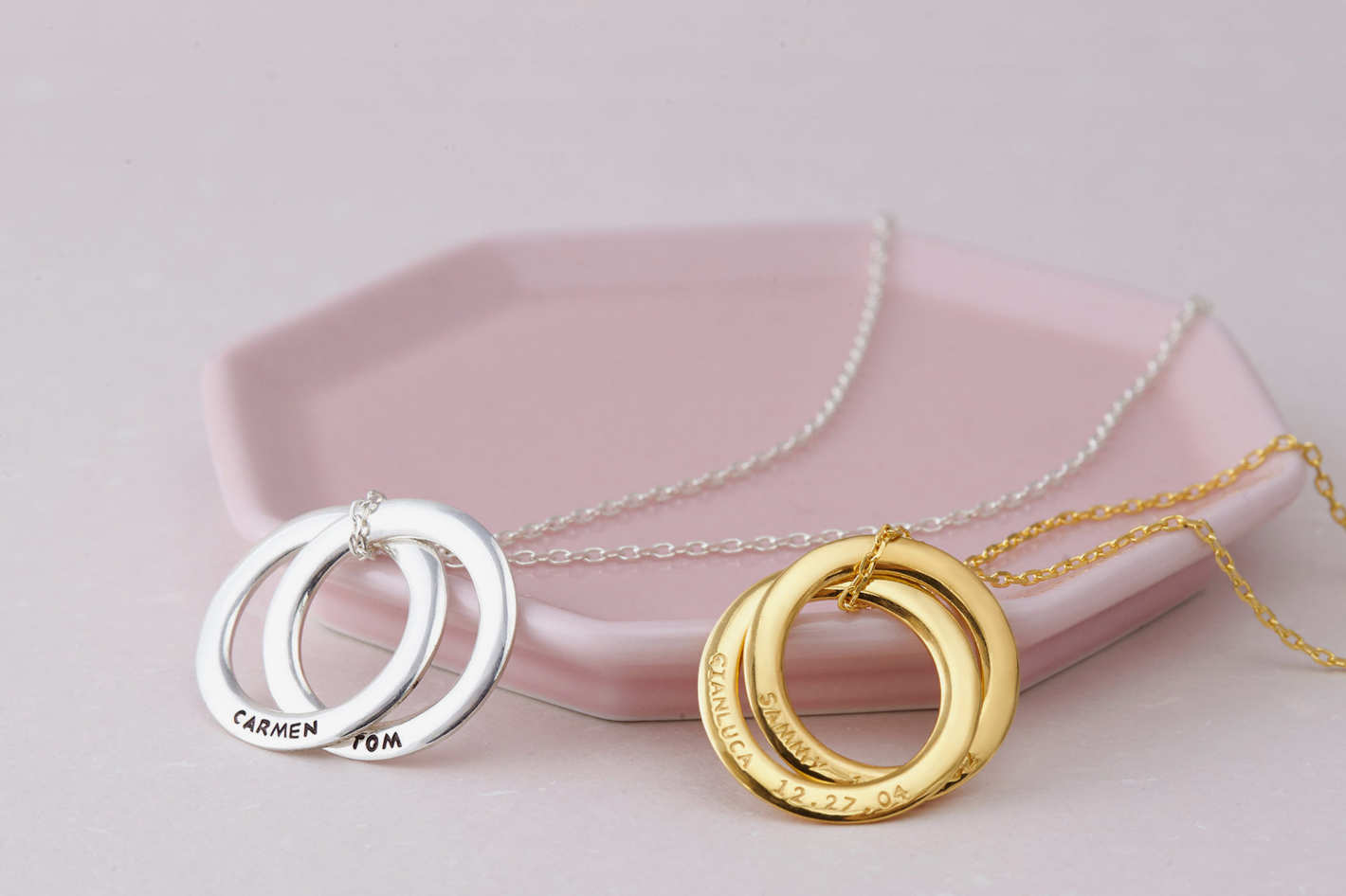 GRS Jewelry Personalized Russian Ring Necklace