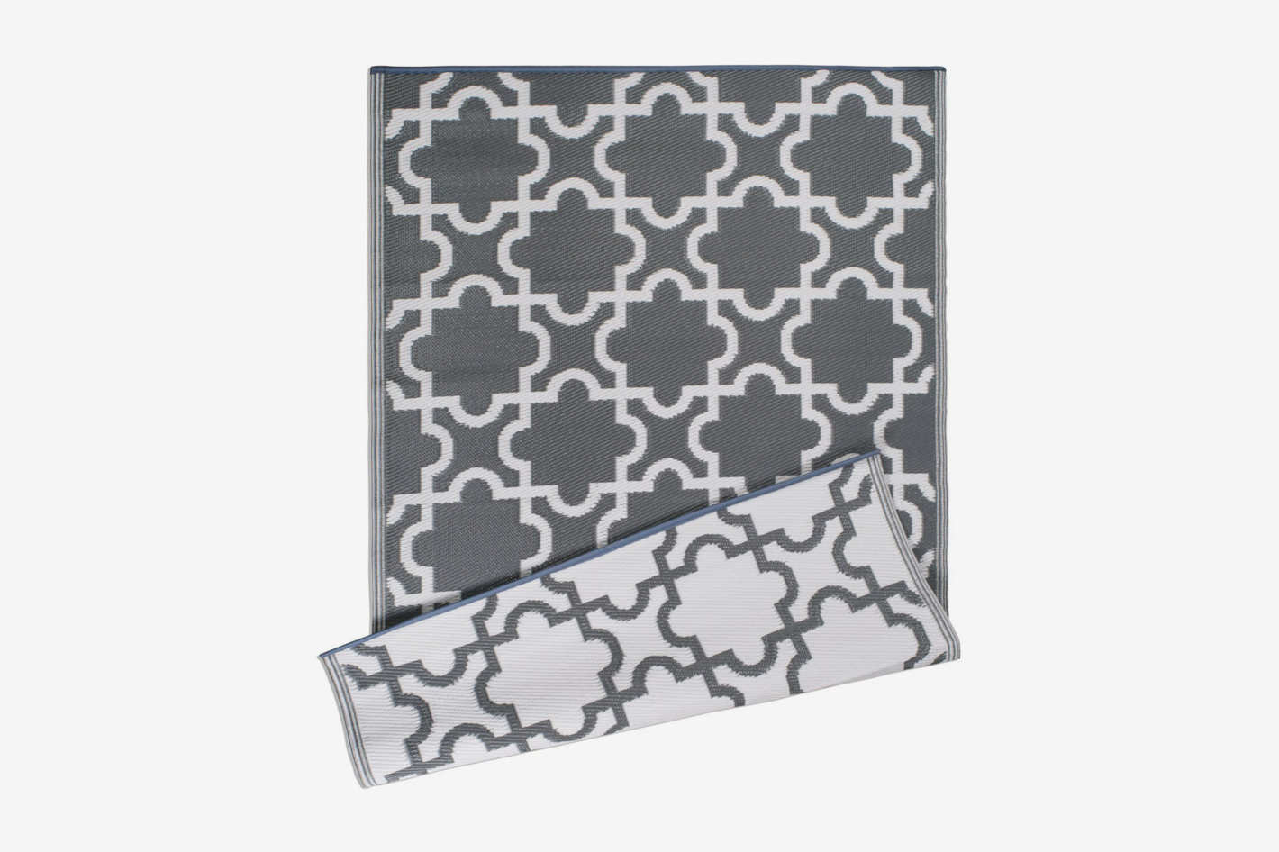 DII Moroccan Indoor-Outdoor Lightweight, Reversible, and Fade-Resistant Area Rug