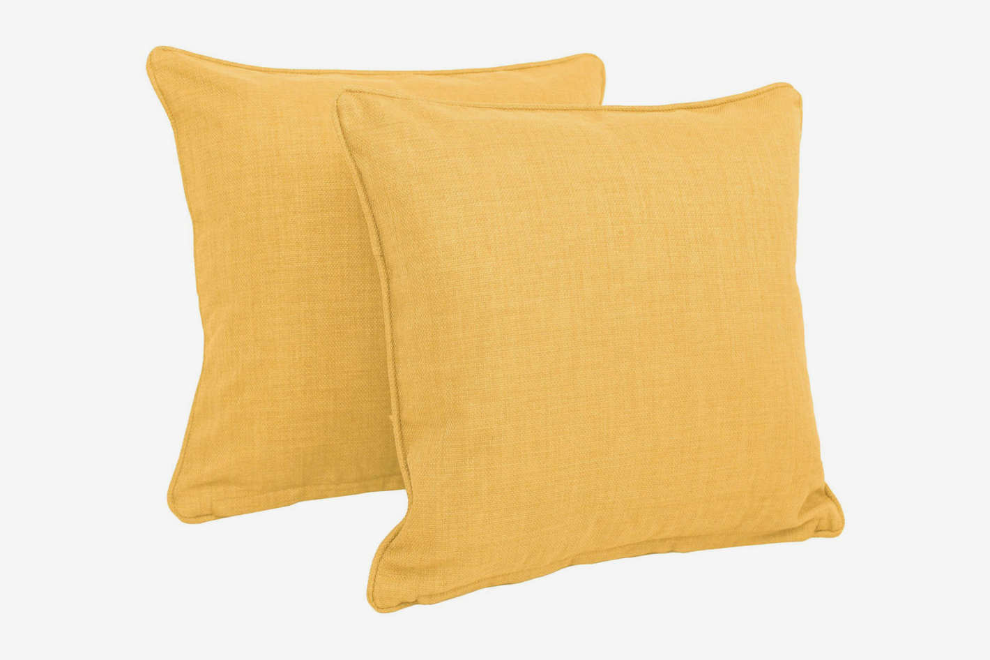 Blazing Needles Solid Twill Outdoor Throw Pillows — Set of 2