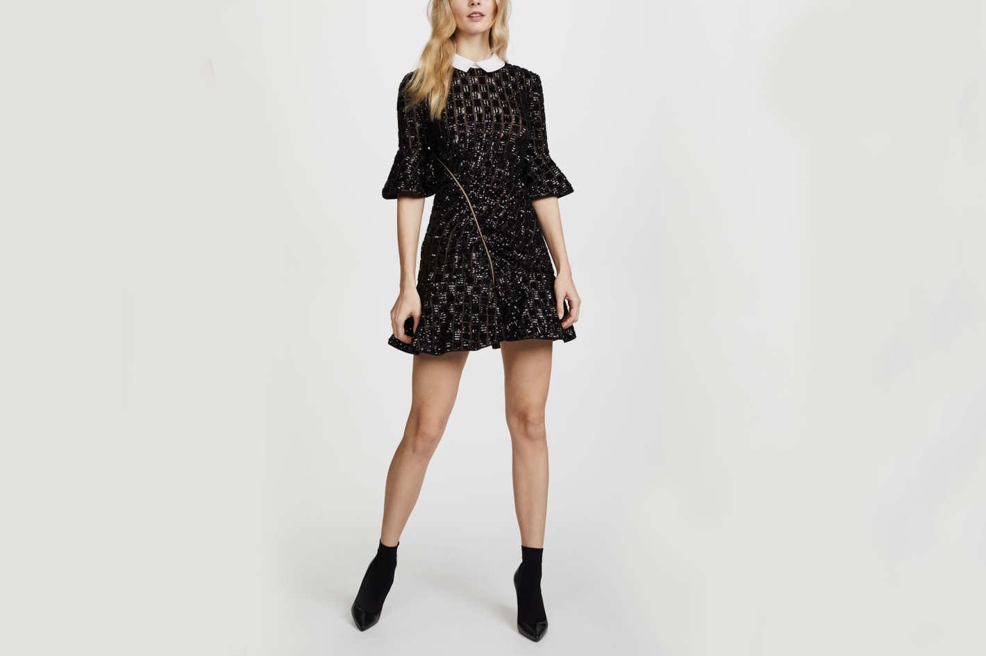 f70d879335fe Self-Portrait Sequin Embroidery Dress