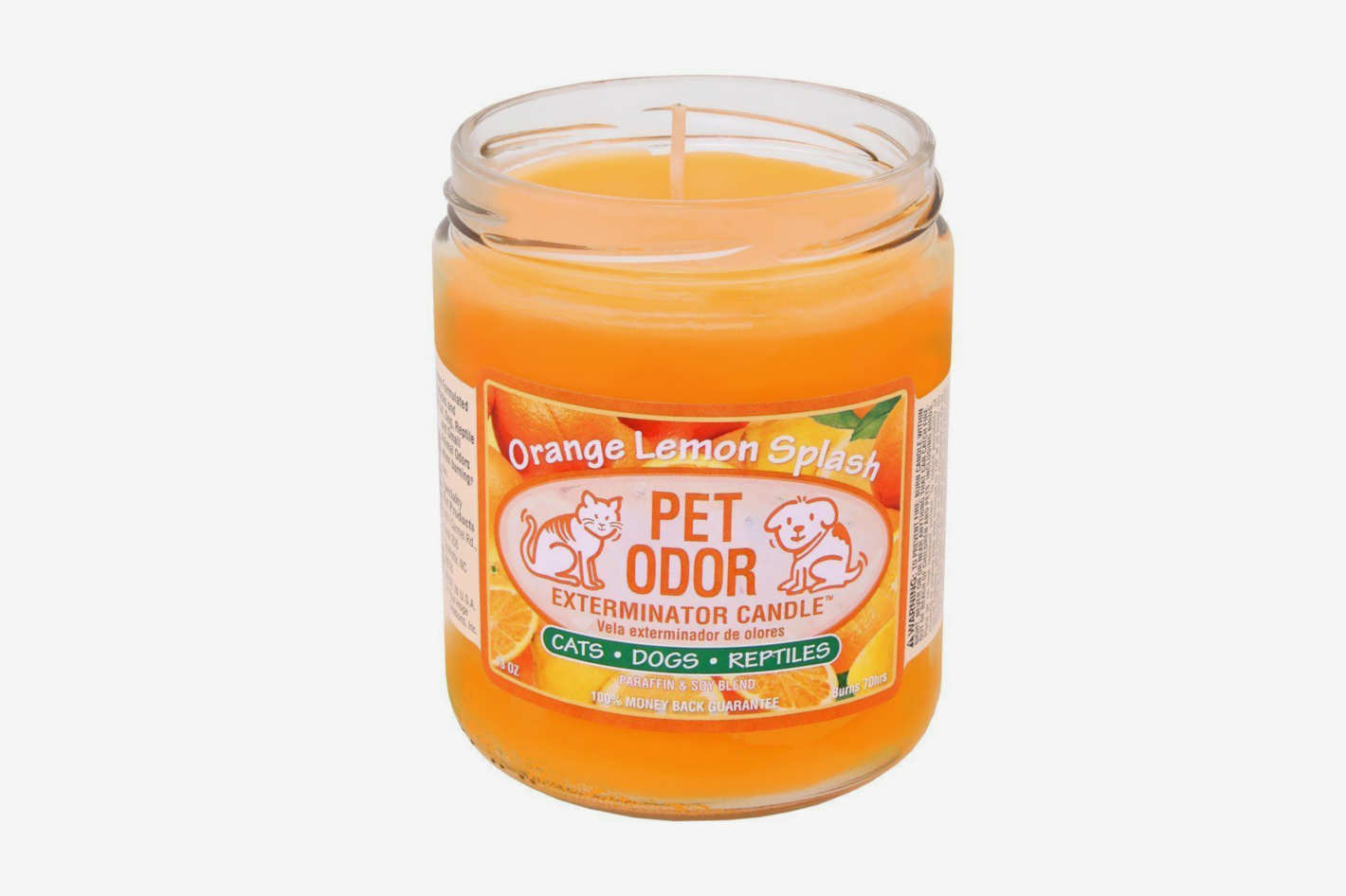 Pet Odor Exterminator Candle, Orange Lemon Splash, 13 oz