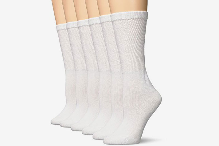 Hanes Women's Comfort Blend Crew Sock, 6 Pack