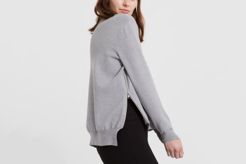Modern Citizen Side Zip Cashmere Sweater