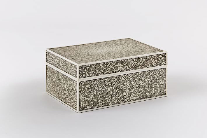 Faux Shagreen Box Charcoal